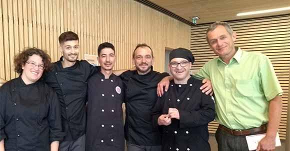 L'équipe de l'atelier cuisine